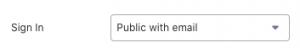 Glideアプリの設定 メールアドレス認証でサインイン